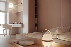 Mild Color Milk Tea Ash Apartment Design